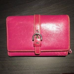 Coach wallet with cc slots and zip coin holder